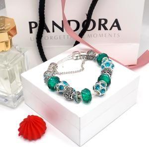 Pandora Bracelet w/ 13 Pandora Charms